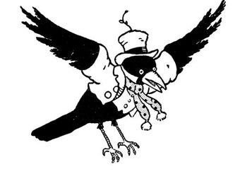 Blacky the Crow Flying 1 Vinyl Wall Decal
