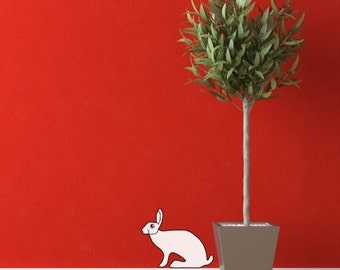 The Crouching Hare Vinyl Wall Decal