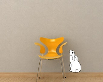 Hare Looking Up Vinyl Wall Decal