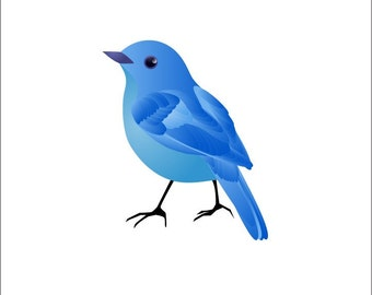Blue Bird Vinyl Wall Decal