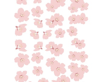 Pink Cherry Blossoms Vinyl Decal Set 41 Blossoms