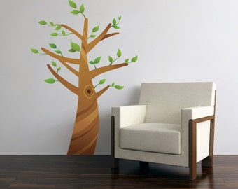 Cartoon Tree Vinyl Wall Decal