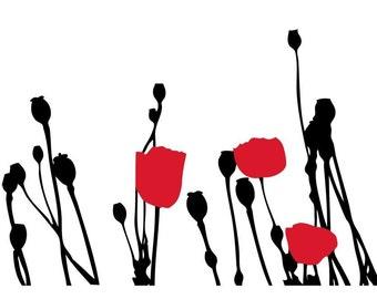 Poppy Fields Wall Decor Decal