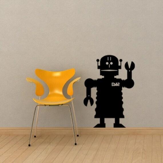 "Robot Chalkboard Vinyl Decal - 28.25"" x 20"""