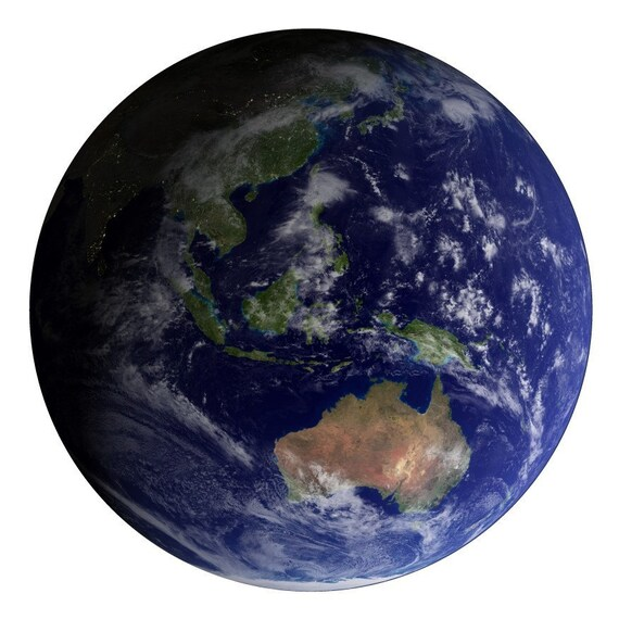 The Earth Featuring Australia Vinyl Wall Decal