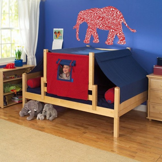 Crimson Giant Elephant Wall Graphic 40 inch wide x 26 inches tall