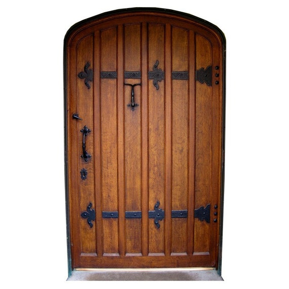 Brown fairy door with black hinges vinyl wall by for Fairy door for wall