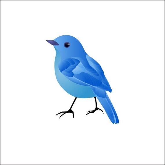 Blue Bird Vinyl Wall Decal