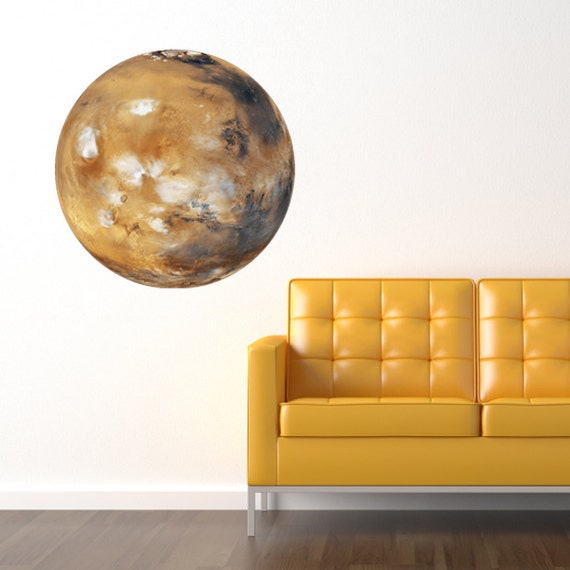 Large Planet Mars Vinyl Wall Decal