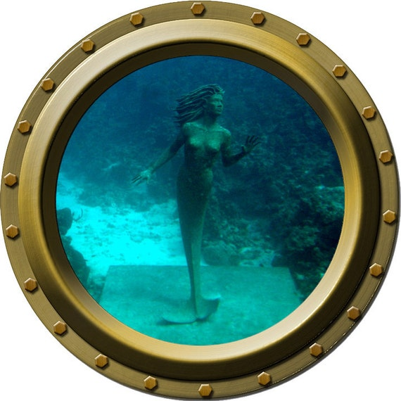 The Little Mermaid Porthole Vinyl Wall Decal