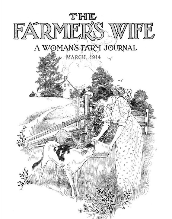 DIY Paint Your Own Limited Edition Farmers Wife Canvas Print