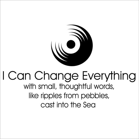 I Can Change Everything Wall Graphic Quote