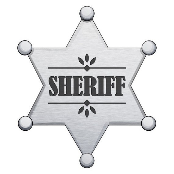 Sheriffs Badge Wall Decal Sticker by WilsonGraphics on Etsy