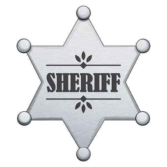 Sheriffs Badge Wall Decal Sticker by WilsonGraphics on Etsy | 576 x 576 jpeg 36kB