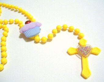 Yellow Cupcake Rosary