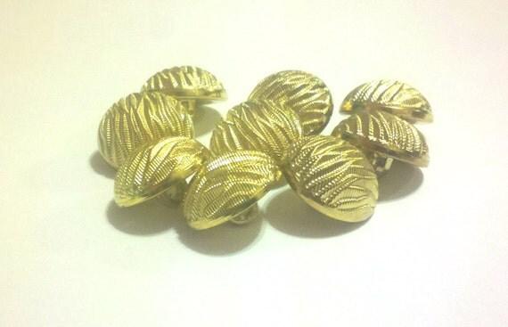 9 Round Gold Zebra Relief Buttons