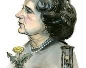 Rachel Carson portrait, scientist series- illustration print in multiple sizes