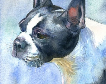 Custom Pet Portrait Commission, watercolor painting- dog, cat, horse, bird, reptile, small animal