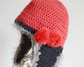 Eccentric style earflap hat  / Beatitude2