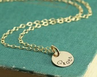 14kt Gold Filled Name or Mother Necklace