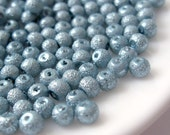 4mm Glass Pearl Matte Bead Round - Pale Blue 200pcs