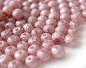 4mm Glass Pearl Matte Bead Round - Medium Orchid 200pcs