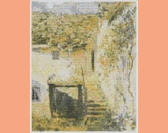 Monet Impressionist Farmhouse Tapestry Bead Pattern Loom
