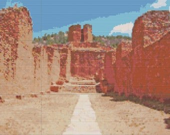 Mission Ruins New Mexico Bead Tapestry Pattern