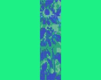 Blue Cone Flower Bead Pattern PEYOTE