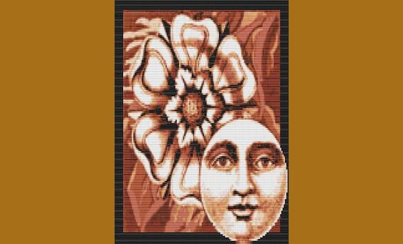 Moonflower Bead Tapestry Pattern LOOM