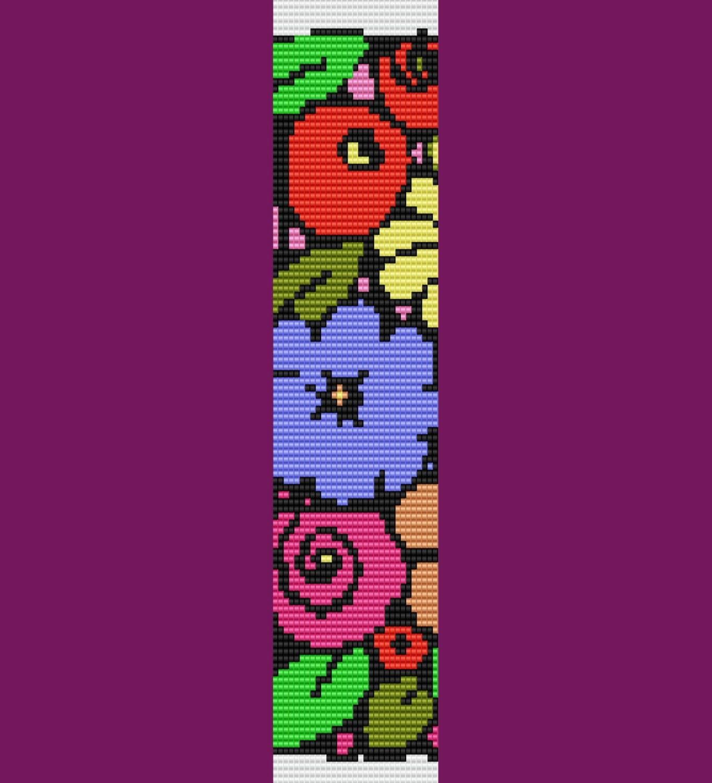 Bunch Of Flowers Bracelet Bead Pattern Loom