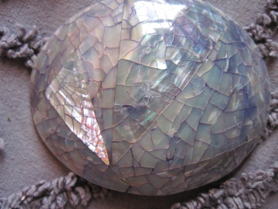 large mother of pearl mosiac pendant and buckle