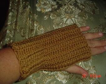 Warm Brown Fingerless Gloves