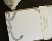 Snake letterpress flats: set of five