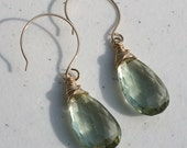 Top Quality Green Amethyst Earrings