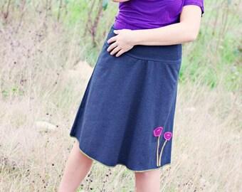 Luna Charcol Skirt