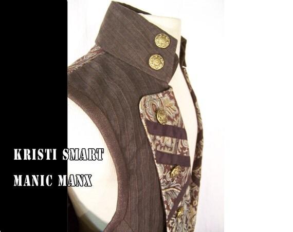 Mans Steampunk Pirate Vest size large