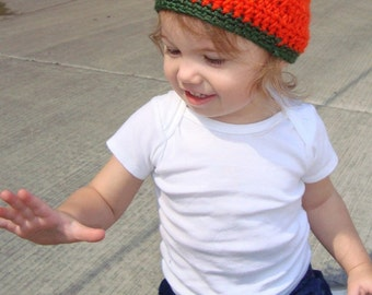 Boutique Crochet LIL Pumpkin Hat Custom 6-12m, 18-24m, 2t-3t, 4-6-8, Teen, Adult