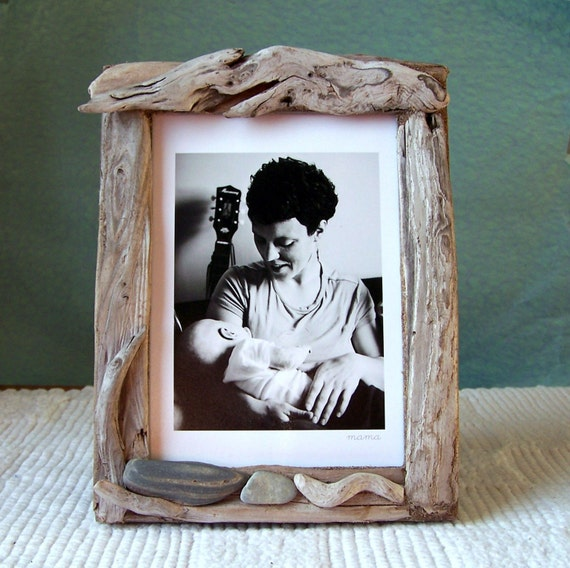 driftwood picture frame 5 x 7 soothing stones. Black Bedroom Furniture Sets. Home Design Ideas