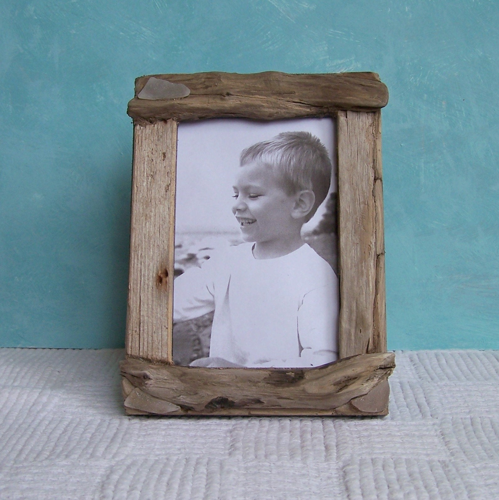 Driftwood Picture Frame 4 x 6 Frosted White Rustic