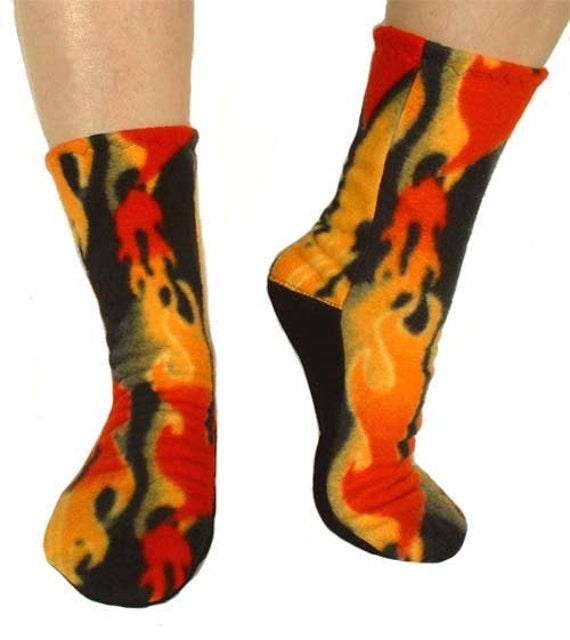 Fleece Slipper Socks Sewing Pattern - Full Size PDF ...