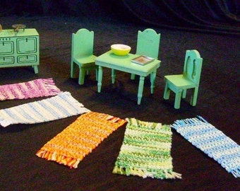 "Dollhouse Rug Miniature ""Rag"" Rugs"
