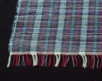 Blue Jean Baby in red Rag Rug short and sweet
