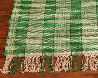 Rag Rug Country Green  Short and Sweet