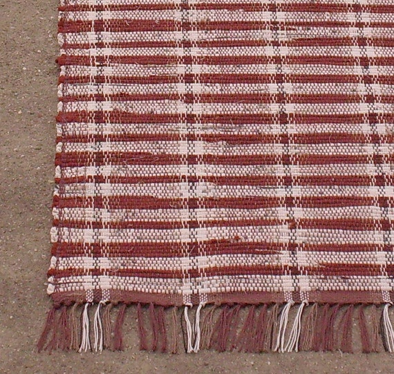 Rag Rug Runner Big Red