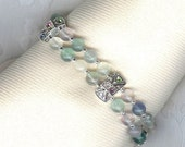 Frosty Fluorite Butterfly Bracelet