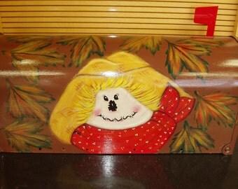 Handpainted Scarecrow Design Mailbox