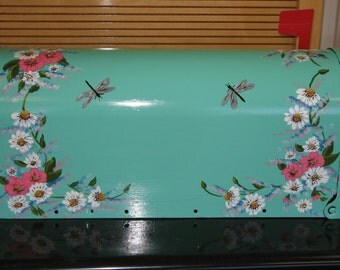 Handpainted Mailbox Floral Design