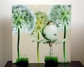 Large Art Print on Wood -Sprout Brings Soft and Green