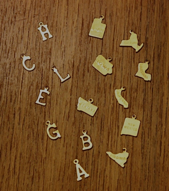 LETTER or STATE Shaped Necklaces
